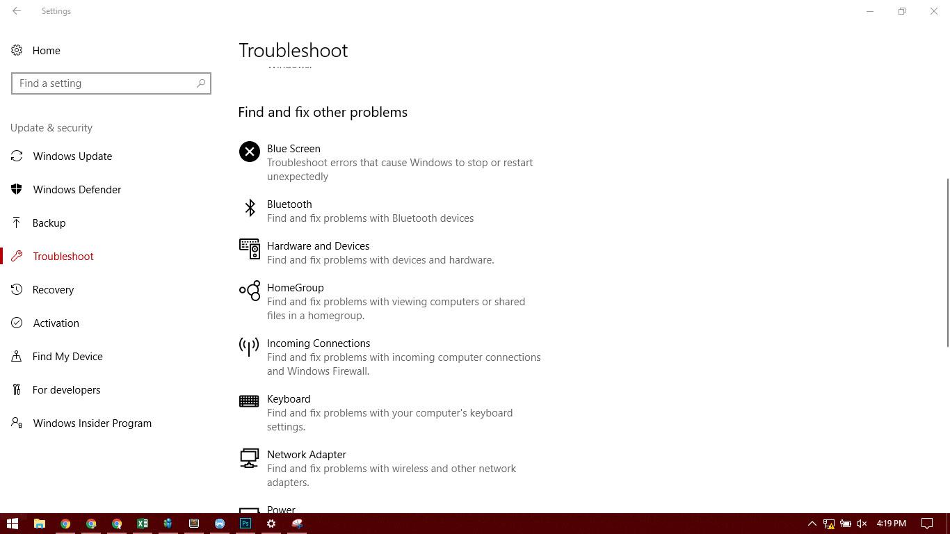 Cara Mengatasi masalah Windows 10 dengan Tool , Troubleshoot