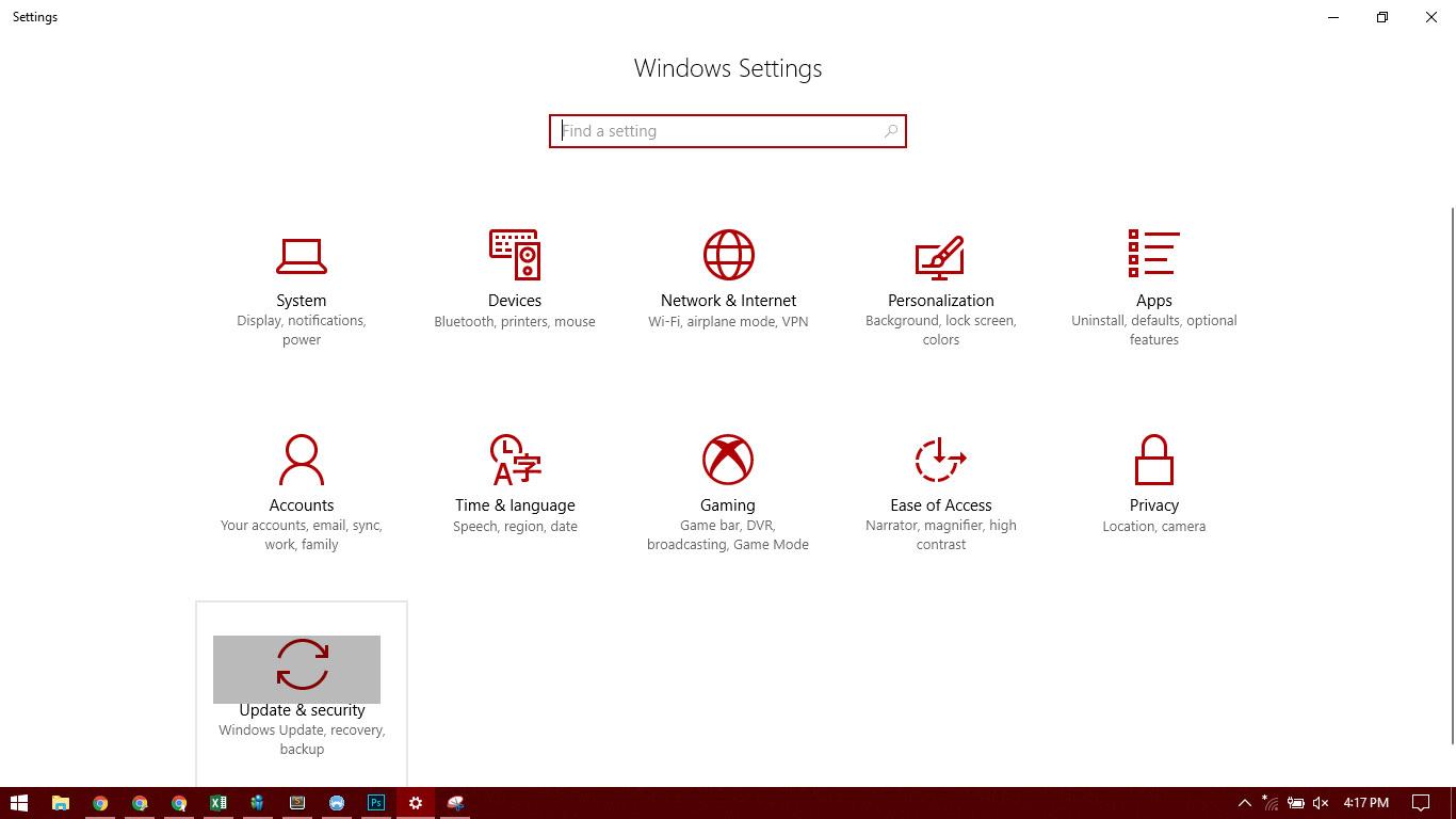 Cara Mengatasi masalah Windows 10 dengan Tool , icon update dan security
