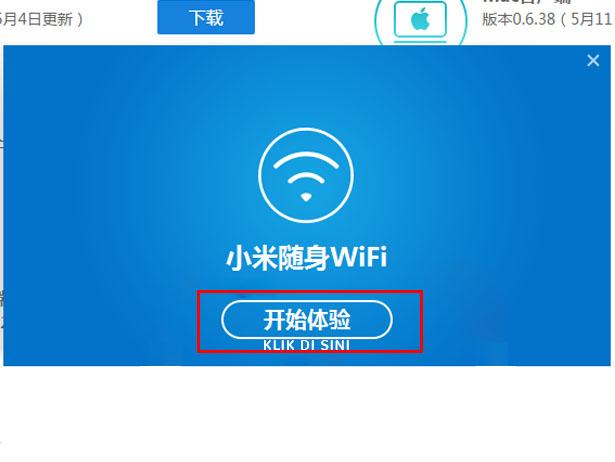 cara mengunakan Xiaomi mi wifi klik tombol