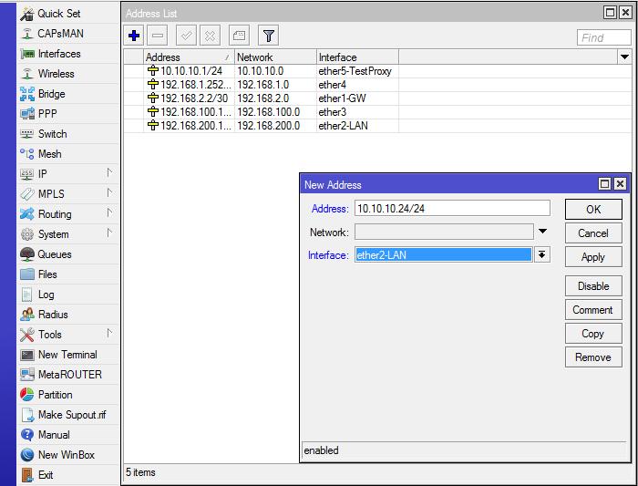 Tutorial untuk setting internet di mikrotik Step by Step mengatur alamat ip