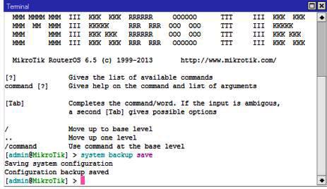 Backup Konfigurasi pada Mikrotik selesai