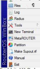 backup konfigurasi pada mikrotik pilih files