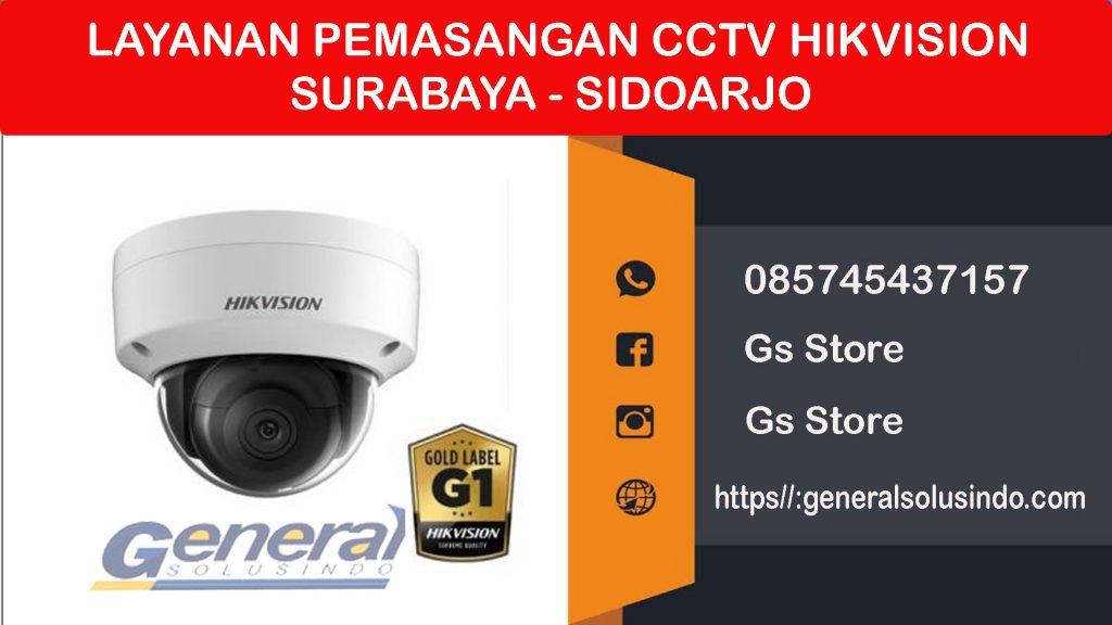 melayani pemasangan cctv hikvision Surabaya Sidoarjo