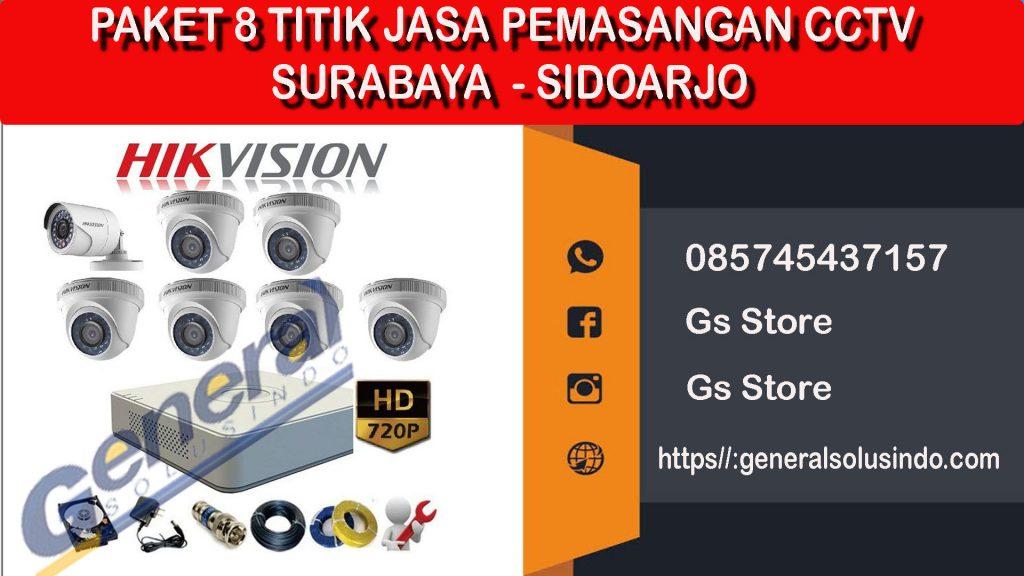 Paket 8 titik jasa pemasangan cctv surabaya - sidoarjo 085745437157 a